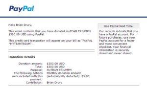 MTT 3 Month Donation